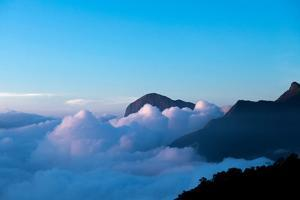 Mountain Peaks Appear Out of Dense Clouds by Prasenjeet Yadav