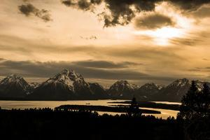 The Sun Sets over Mountains and River by Prasenjeet Yadav