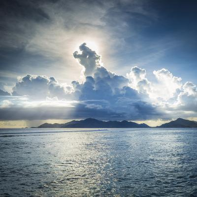 Praslin Island from Anse Source D'Argent Beach, La Digue, Seychelles-Jon Arnold-Photographic Print