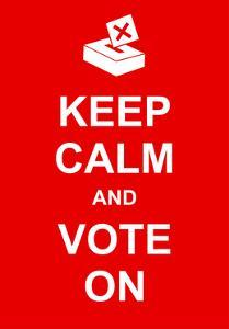 Keep Calm and Vote On by prawny
