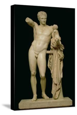 Statue of Hermes and the Infant Dionysus, circa 330 BC (Parian Marble)