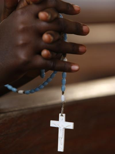 Prayer Beads, Togoville, Togo, West Africa, Africa--Photographic Print