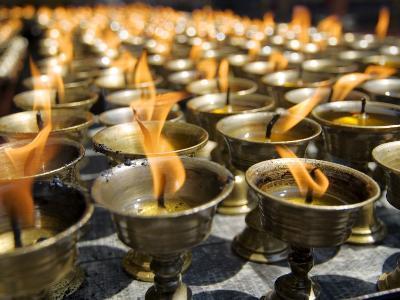 Prayer Candles, Nanwu Temple, Kangding, Sichuan, China-Porteous Rod-Photographic Print