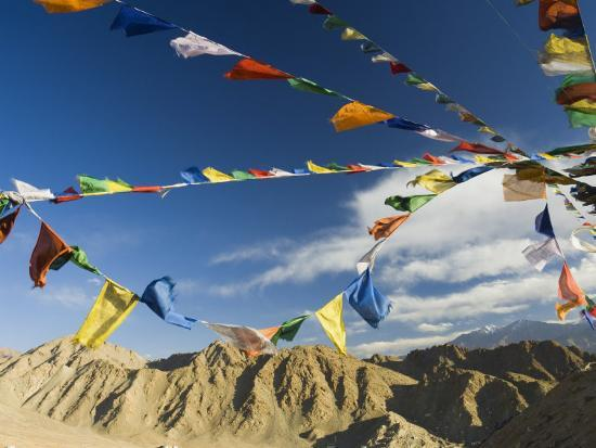 Prayer Flags on the Peak of Victory, Leh, Ladakh, Indian Himalayas, India, Asia-Jochen Schlenker-Photographic Print
