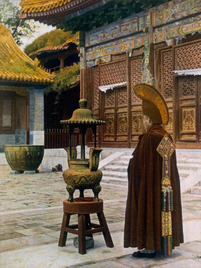 Prayer Hour at the Lama Temple, Peking, 1927--Giclee Print