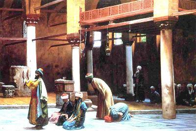 Prayer in a Mosque, 1892-Jean Leon Gerome-Giclee Print
