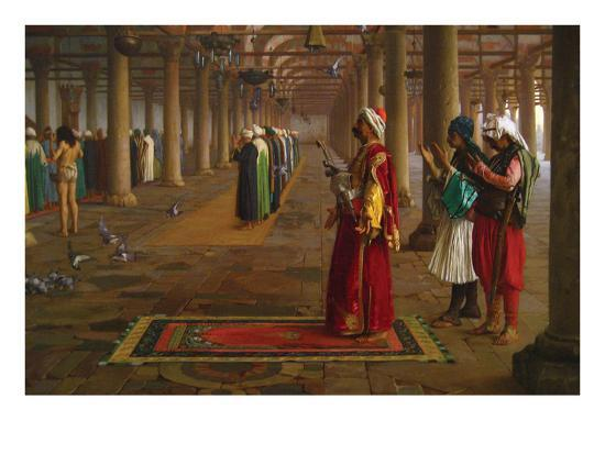 Prayer in a Mosque-Jean Leon Gerome-Art Print