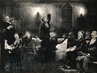 Prayer Meeting, 1916-George Wesley Bellows-Giclee Print