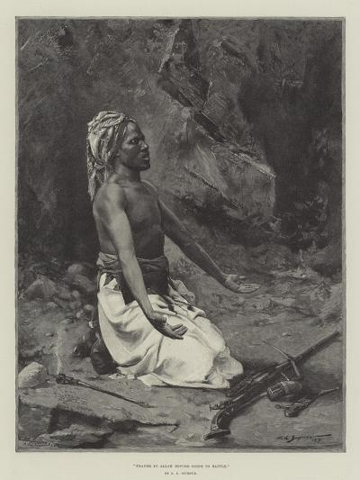 Prayer to Allah before Going to Battle-George L. Seymour-Giclee Print