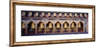 Prayer Wheels in a Temple, Chimi Lhakhang, Punakha, Bhutan--Framed Photographic Print