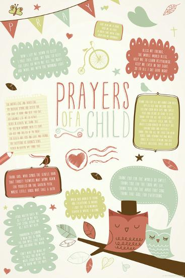 Prayers Of A Child--Poster
