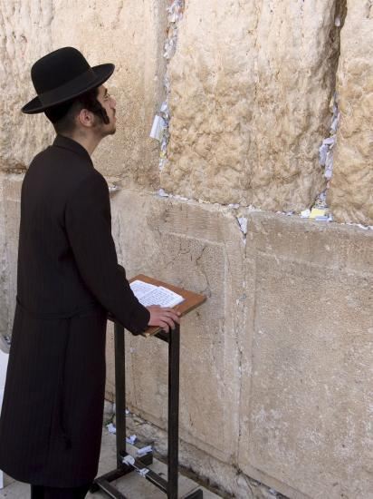 Praying at the Western (Wailing) Wall, Old Walled City, Jerusalem, Israel,  Middle East Photographic Print by Christian Kober   Art com