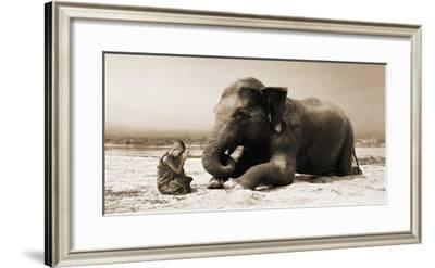 Praying by the River-Marc Moreau-Framed Giclee Print