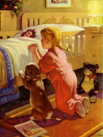 Praying Child and Dog, 1941--Giclee Print
