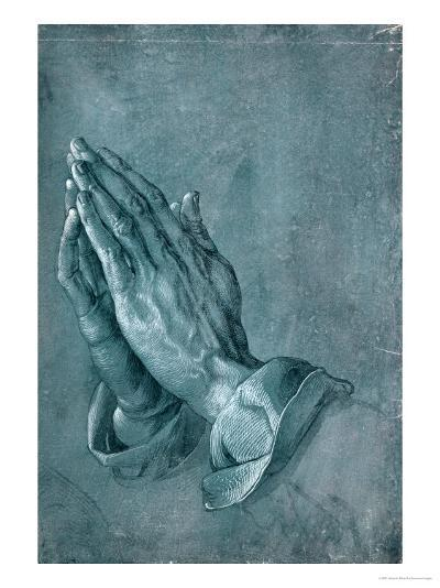 Praying Hands, 1508, Point of Brush and Black Ink, Heightened with White, on Blue Prepared Paper-Albrecht D?rer-Giclee Print