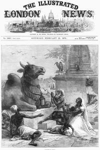 Praying to Nandi for Relief from Famine, Bengal, India, 1874