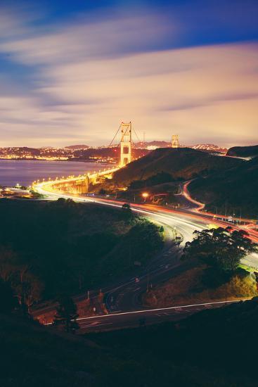 Pre Dawn East Side of Beautiful Golden Gate Bridge, San Francisco Cityscape-Vincent James-Photographic Print