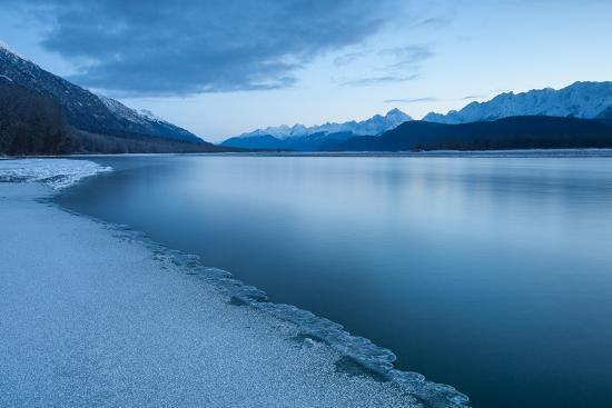 Pre-Dawn Long Exposure of the Icy Blue Chilkat River-Jak Wonderly-Photographic Print