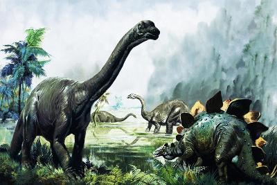 Pre-Historic Animals-David Nockels-Giclee Print