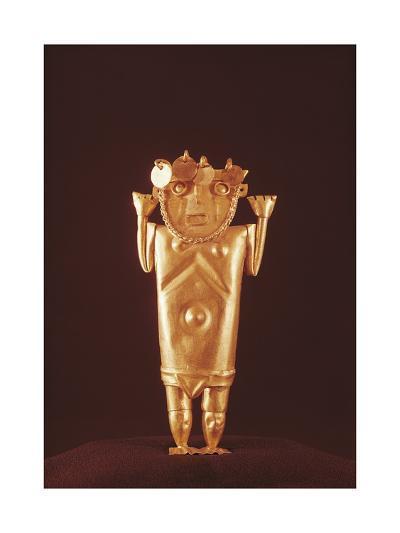 Pre-Inca Mochica Gold Figure, Form Peru, 4th-9th Century--Giclee Print