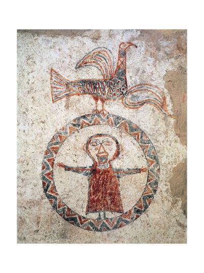 Pre Romanesque Art. Spain. 10th Century. Prayerful. Church of Sant Quirze De Pedret. Catalonia--Giclee Print