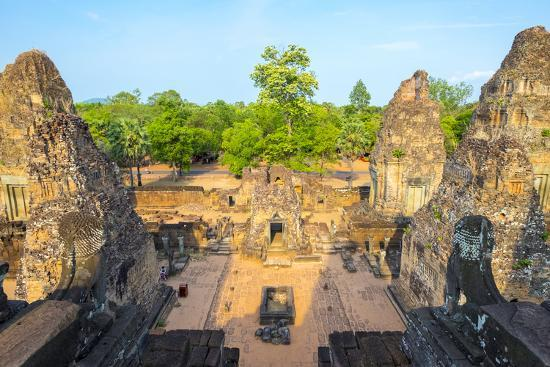 Pre Rup (Prae Roup) Temple Ruins, Angkor Archaeological Park, UNESCO World Heritage Site-Jason Langley-Photographic Print
