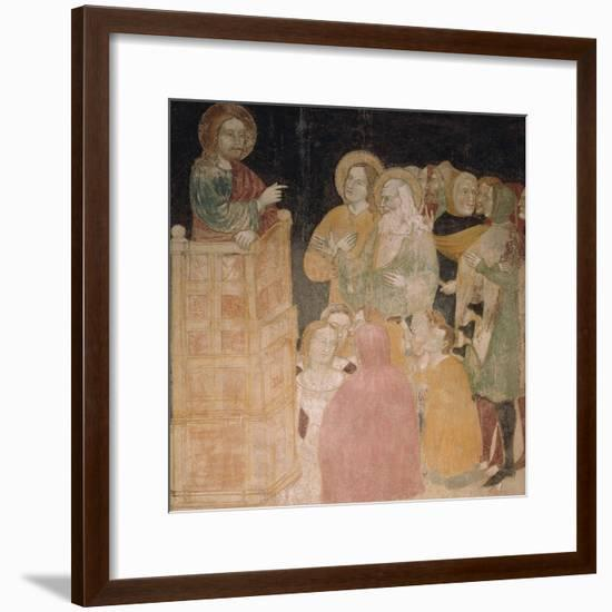 Preaching of Jesus Lombard Master, Oratory of Visconti Albizzate, Italy--Framed Giclee Print