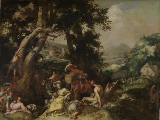 Preaching of Saint John the Baptist-Abraham Bloemaert-Art Print