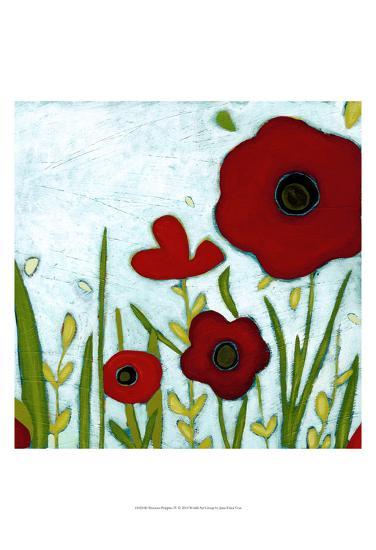 Precious Poppies IV-Erica J^ Vess-Art Print