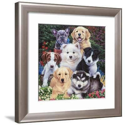 Precious Puppies-Jenny Newland-Framed Giclee Print