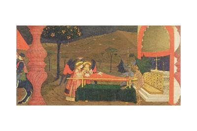 Predella of the Profanation of the Host: the Body of the Jewish Pawnbroker Guarded by Angels and De-Paolo Uccello-Giclee Print