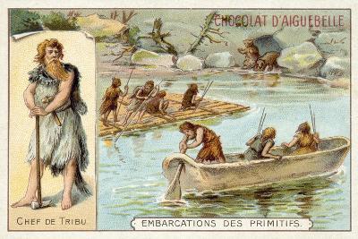 Prehistoric Boats--Giclee Print