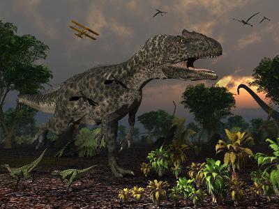 Prehistoric Dinosaurs Roam Freely Where Time Stands Still-Stocktrek Images-Photographic Print