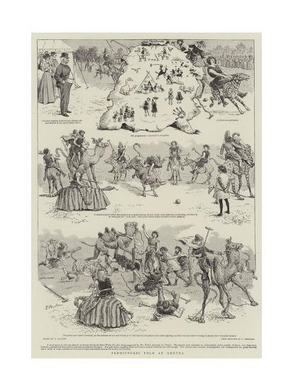 Prehistoric Polo at Quetta-William Ralston-Giclee Print