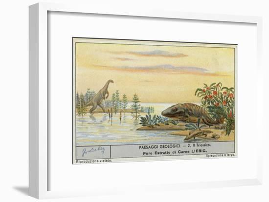 Prehistoric World-European School-Framed Giclee Print