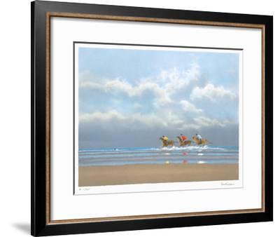 Premier Galop À Deauville-Pierre Doutreleau-Framed Limited Edition