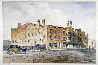Premises of George March, Licensed Rectifier, in Cobham Row, Holborn, London, C1830--Giclee Print
