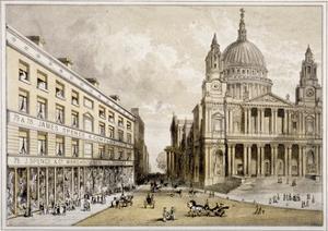 Premises of James Spence and Co, Warehousemen, 76-79 St Paul's Churchyard, City of London, 1850
