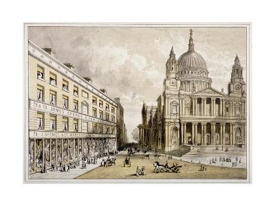 Premises of James Spence and Co, Warehousemen, 76-79 St Paul's Churchyard, City of London, 1850--Giclee Print