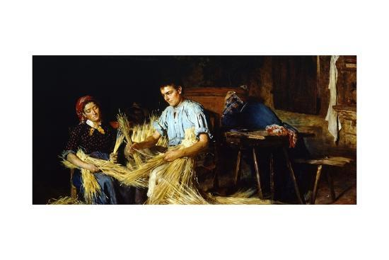 Preparation of Straw-Giovanni Muzzioli-Giclee Print