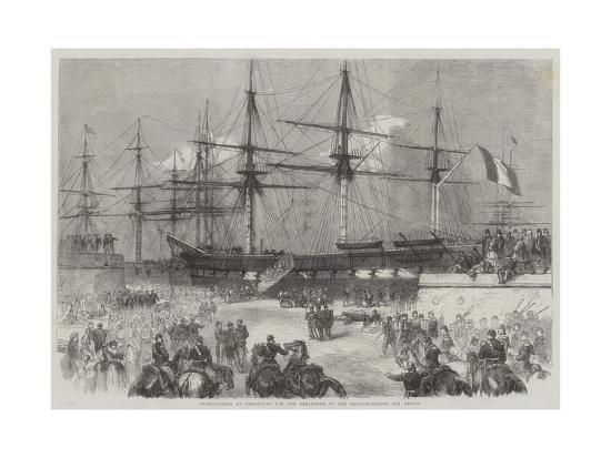 Preparations at Cherbourg for the Departure of the Reinforcements for Mexico--Giclee Print
