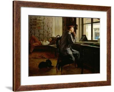 Preparing for Examinations, 1864-Ilya Efimovich Repin-Framed Giclee Print