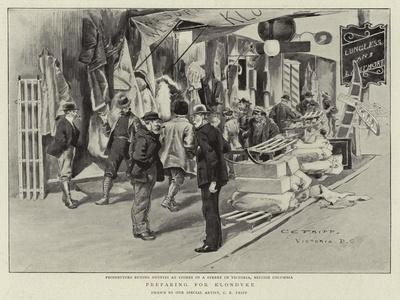 Preparing for Klondyke-Charles Edwin Fripp-Giclee Print