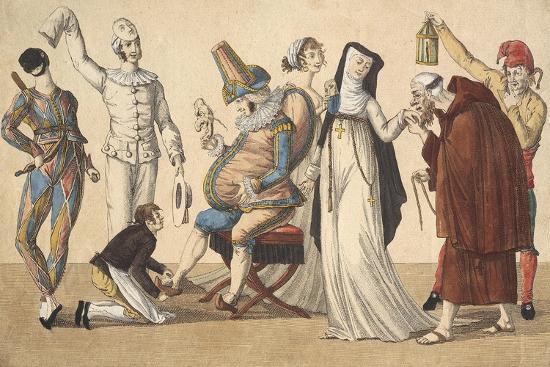 Preparing for Masked Ball, France--Giclee Print