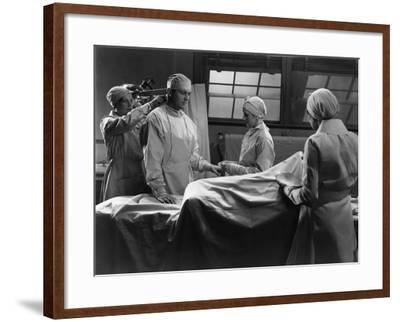Preparing for Surgery--Framed Photo
