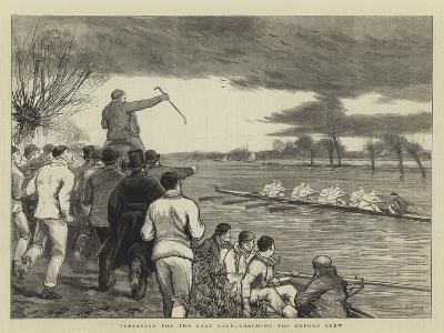 Preparing for the Boat Race, Coaching the Oxford Crew-Joseph Nash-Giclee Print