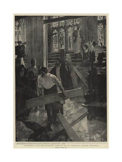 Preparing for the Funeral Service in St George's Chapel, Windsor-Frank Craig-Giclee Print