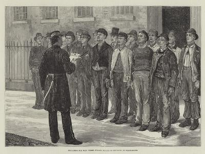 Preparing for War, Three O'Clock Parade of Recruits at Westminster--Giclee Print