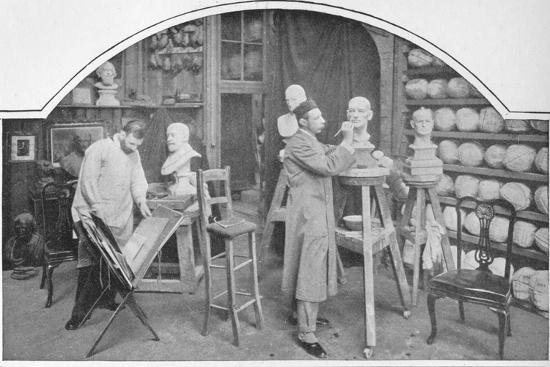 Preparing models at Madame Tussaud's, London, c1903 (1903)-Unknown-Photographic Print