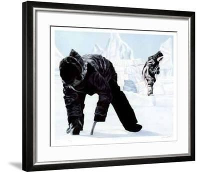 Preparing the Hunt-K. Kirby-Framed Limited Edition